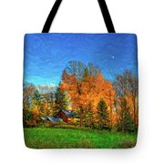 Autumn Moon Rising Tote Bag