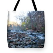 Autumn Morning Along The Wissahickon Creek Tote Bag