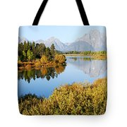 Autumn Morning At Oxbow Bend Tote Bag