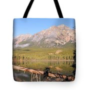 Autumn Morning At Pyramid Mountain Tote Bag