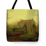 Autumn Morning Tote Bag by John Atkinson Grimshaw