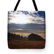 Autumn Morning On The Fields Tote Bag