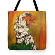 Autumn Muscovy Portrait Tote Bag