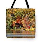 Autumn On Canoe Brook Lake Tote Bag