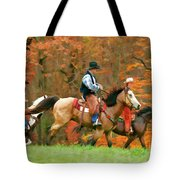 Autumn On Horseback Tote Bag