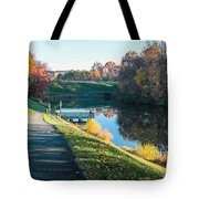 Autumn On Lake Inspiration Tote Bag