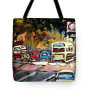 Autumn On The Boulevard Tote Bag
