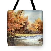 Autumn On The Buffalo Tote Bag