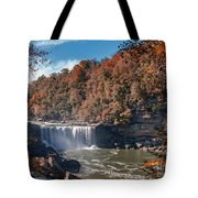 Autumn On The Cumberland  Cumberland Falls Tote Bag