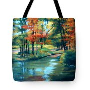 Autumn On The Lake Tote Bag