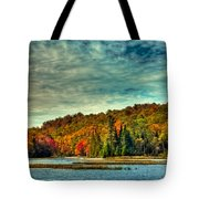 Autumn On The Moose River In Thendara Tote Bag