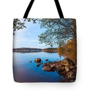 Autumn On The Rocks Tote Bag