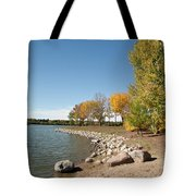 Autumn On The Water Tote Bag