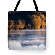 Autumn On Wisconsin River Tote Bag