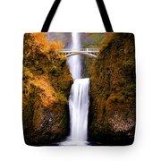 Autumn Orange Multnomah Falls Tote Bag