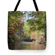 Autumn Over Golden Waters Tote Bag