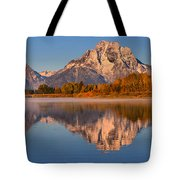 Autumn Oxbow Bend Reflections Tote Bag