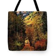 Autumn Path To Stewart Falls Tote Bag
