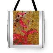 Autumn Penstemon Poster Tote Bag