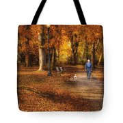 Autumn - People - A Walk In The Park Tote Bag