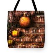 Autumn - Pumpkin - Three Pumpkins Tote Bag