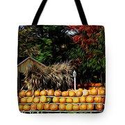 Autumn Pumpkins And Cornstalks Graphic Effect Tote Bag