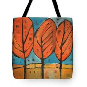 Autumn Quilt Tote Bag