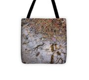 Autumn Rain On Concrete Tote Bag