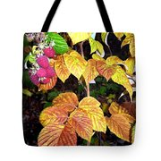 Autumn Raspberries Tote Bag