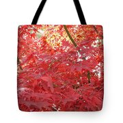 Autumn Red Poster Tote Bag