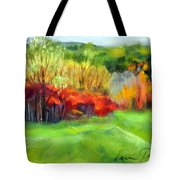 Autumn Reds Tote Bag by Lenore Gaudet