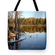 Autumn Reflections On Little Bass Lake Tote Bag