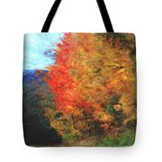 Autumn Roadside Tote Bag