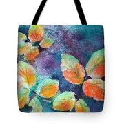Autumn Rose Leaves Tote Bag