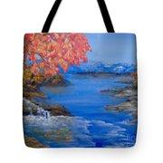 Autumn Tote Bag by Saundra Johnson