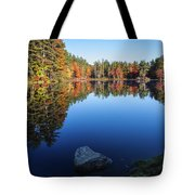 Autumn Serenity In Maine Usa Tote Bag