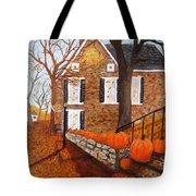 Autumn Stone House Tote Bag