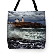 Autumn Storm At Cape Neddick Tote Bag