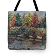 Autumn Stream Tote Bag by Nadine Rippelmeyer
