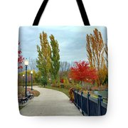 Autumn Stroll In The Park Tote Bag