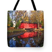 Autumn Sunrise Bridge II Tote Bag