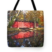 Autumn Sunrise Bridge Tote Bag