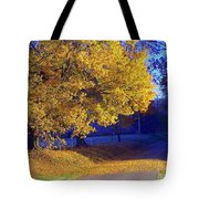 Autumn Sunrise In The Country Tote Bag