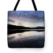 Autumn Sunset, Ladybower Reservoir Derwent Valley Derbyshire Tote Bag
