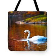 Autumn Swan Lake Tote Bag
