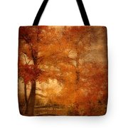 Autumn Tapestry - Lake Carasaljo Tote Bag