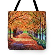 Autumn Tree Lane Tote Bag