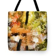 Autumn Trees In The Fog Tote Bag