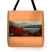 Autumn Trees Near A River H A With Decorative Ornate Printed Frame. Tote Bag