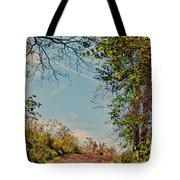 Autumn Up Hill Tote Bag